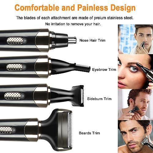 Electric Shaver for Men Women 4 in 1 USB Rechargeable Razor Waterproof Hair Kit