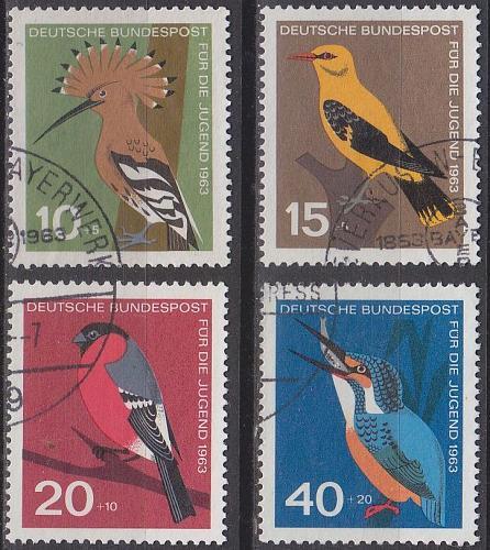 GERMANY BUND [1963] MiNr 0401-04 ( O/used ) Vögel