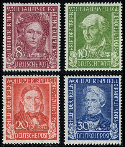 Germany #B310-B313 Helpers of Mankind Set of 3; MNH (4Stars) |DEUB0313set-01XDP