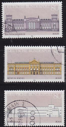 GERMANY BUND [1986] MiNr 1287-89 ( O/used ) Bauwerke