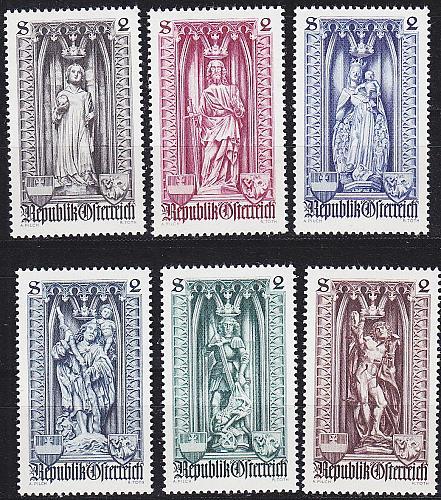 ÖSTERREICH AUSTRIA [1969] MiNr 1284-89 ( **/mnh )
