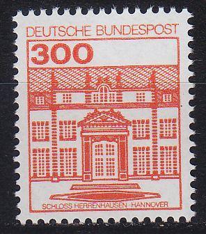 GERMANY BUND [1982] MiNr 1143 ( **/mnh ) Bauwerke