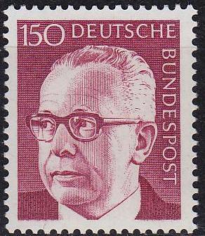 GERMANY BUND [1972] MiNr 0730 ( **/mnh )
