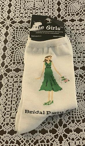 Brand New Pair Of The Girls Bridal Party Girl Crew Socks Ladies Size 9 to 11