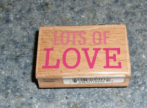 Brand New Valentines Day Rubber Stamp LOTS OF LOVE Design For Dog Rescue Charity