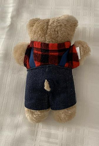 Vintage 1986 Cabbage Patch Furskins Appalachian Artwork 7 Inch Teddy Bear