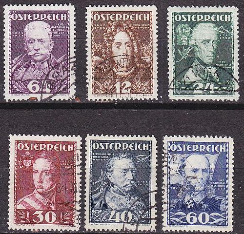 ÖSTERREICH AUSTRIA [1935] MiNr 0617-22 ( O/used )