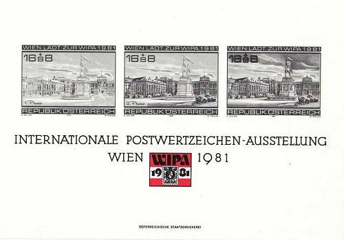 ÖSTERREICH AUSTRIA [1980] MiNr 1629 ( Schwarzdruck ) Gedenkblatt 7