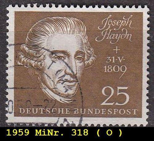 GERMANY BUND [1959] MiNr 0318 ( O/used ) Musik
