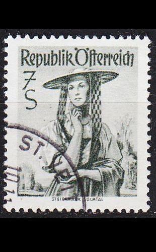 ÖSTERREICH AUSTRIA [1952] MiNr 0980 z ( O/used ) Trachten