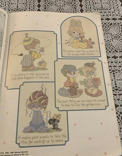 1985 Precious Moments Book of Clowns Book PM7 Counted Cross Stitch Patterns