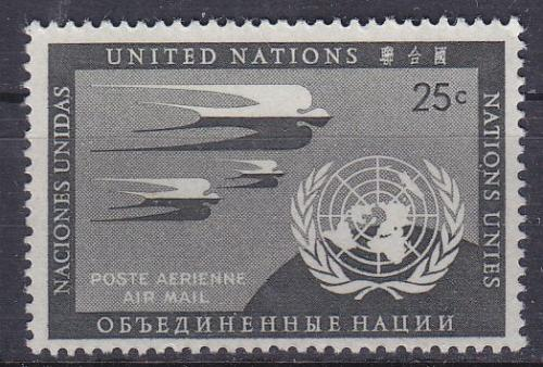 UNO New York [1951] MiNr 0015 ( **/mnh )