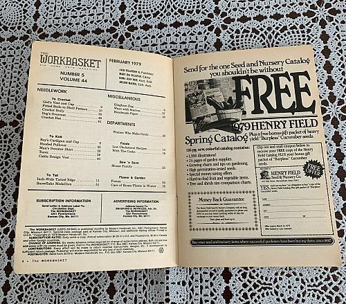 Vintage Workbasket Magazine February 1979 Craft Patterns Crochet Knit Tat Sew