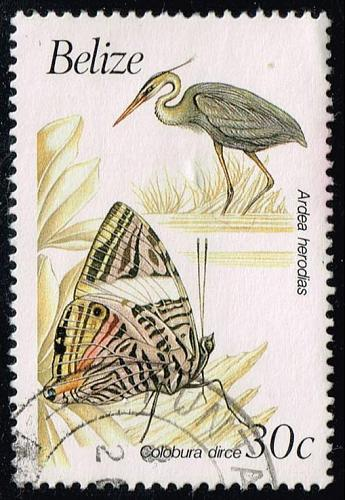 Belize #936 Stork and Butterfly; Used (2Stars) |BEZ0936-04XVA