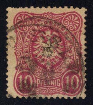 Germany #39 Imperial Eagle; Used (2Stars)  DEU0039-05