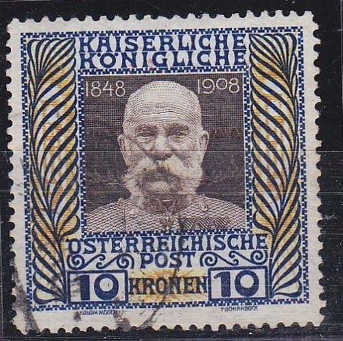 ÖSTERREICH AUSTRIA [1908] MiNr 0156 z ( O/used ) [01]