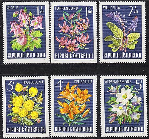 ÖSTERREICH AUSTRIA [1966] MiNr 1209-14 ( O/used ) Blumen