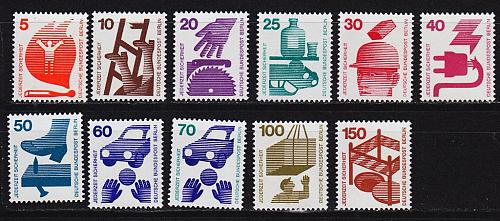 GERMANY BERLIN [1971] MiNr 0402-11 ( **/mnh )
