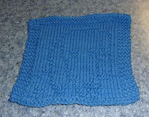 Brand New Hand Knit Dachshund Dog Blue Dish Cloth For Dog Rescue Charity