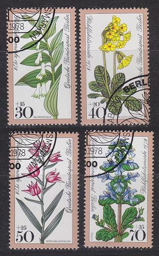 GERMANY BERLIN [1978] MiNr 0573-76 ( O/used ) Blumen
