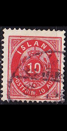 ISLAND ICELAND [1876] MiNr 0008 B ( O/used )