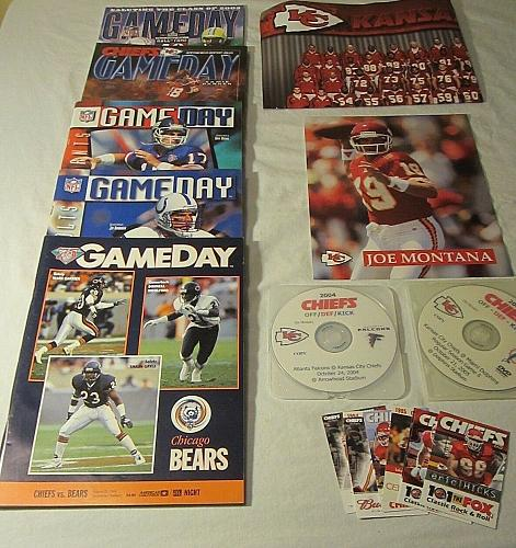 Vintage Kansas City Chiefs-Joe Montana - Yearbooks, Game CD's & Schedules Lot #3