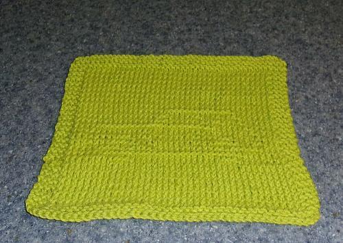 Brand New Hand Knit AMC Gremlin Car Design Cotton Dish Cloth Dog Rescue Charity