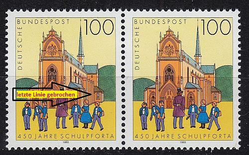 GERMANY BUND [1993] MiNr 1675 F17 ( **/mnh ) [01] Plattenfehler
