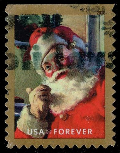 US #5333 Santa Claus and Wreath; Used (2Stars) |USA5333-01