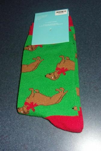Brand New Dachshund Doxie Size 9 to 11 Ladies Crew Socks For Dog Rescue Charity