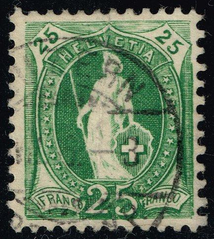 Switzerland #83b Helvetia; Used (1Stars)  SWI0083b-01