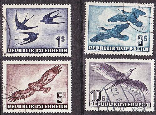 ÖSTERREICH AUSTRIA [1953] MiNr 0984-87 ( O/used ) Vögel