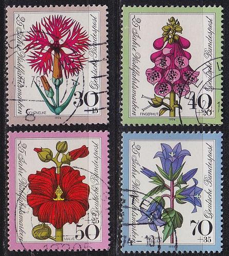GERMANY BUND [1974] MiNr 0818-21 ( O/used ) Blumen