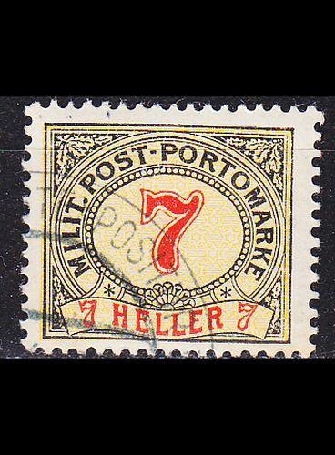 ÖSTERREICH AUSTRIA [BosHerz Porto] MiNr 0007 C ( O/used )
