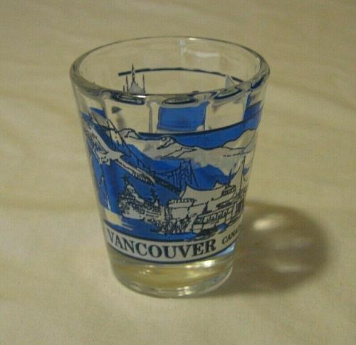 VANCOUVER BRITISH COLUMBIA CANADA GREAT CANADIAN CITIES COLLECTION SHOT GLASS