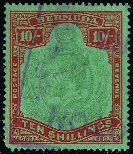 Bermuda #96a King George V; Used (1Stars) |BER0096a-01XVK