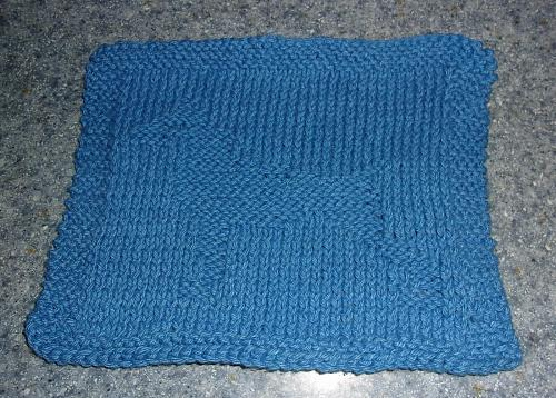 Brand New Hand Knit Doberman Pinscher Dog Blue Dish Cloth 4 Dog Rescue Charity