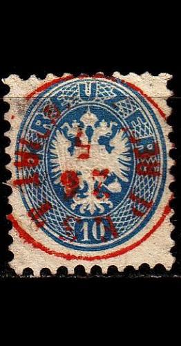 ÖSTERREICH AUSTRIA [1863] MiNr 0033 ( O/used ) [01] O-rot