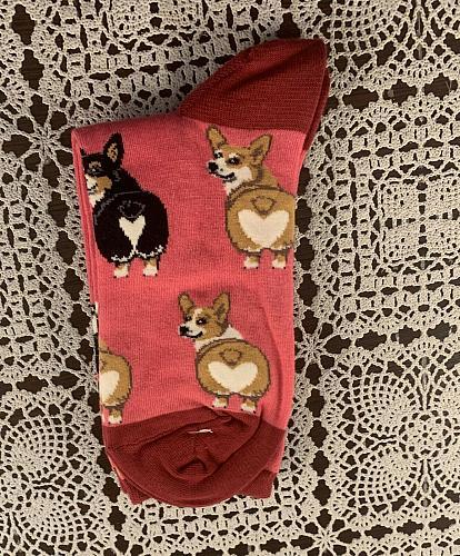 Brand New Sock Smith Corgi Butt Crew Socks For Dog Rescue Charity
