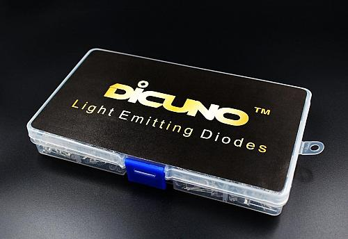 DiCUNO 450pcs5 Colors x 90pcs 5mm LED Light Emitting Diode Round Assorted Color