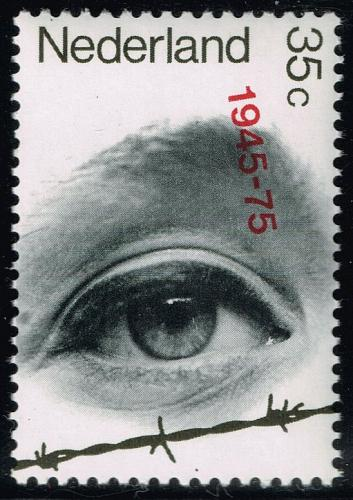 Netherlands #528 Eye Looking Over Barbed Wire; MNH (5Stars) |NED0528-06XKN