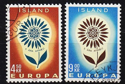 ISLAND ICELAND [1964] MiNr 0385-86 ( O/used ) CEPT