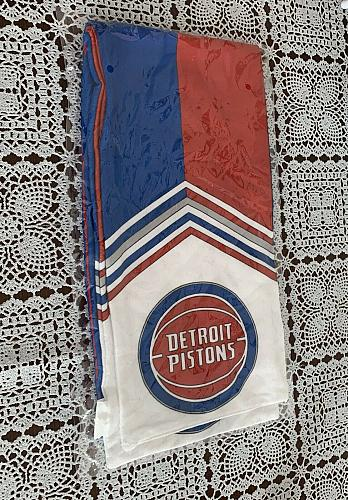 Brand New Detroit Pistons Basketball 54 Inch Long Scarf For Dog Rescue Charity