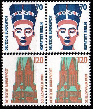 GERMANY BUND [1988] MiNr 1374-75 2er ( **/mnh ) Bauwerke aus Bogen