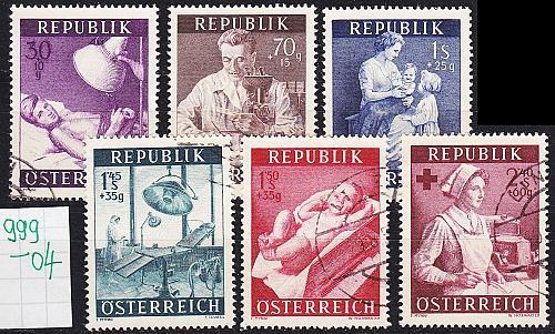 ÖSTERREICH AUSTRIA [1954] MiNr 0999-04 ( O/used )