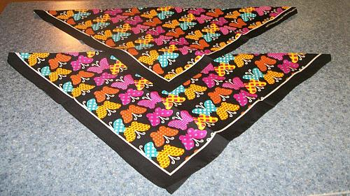 Two Brand New Butterfly Design Dog Bandanas For Cocker Spaniel Rescue Charity