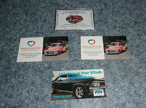 4 Brand New Ohio Car Show Dash Plaque Magnets For Cocker Spaniel Rescue Charity