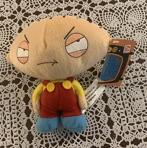 Brand New Family Guy 5 Inch Stewie Stuffed Plush Toy With Tags For Dog Charity