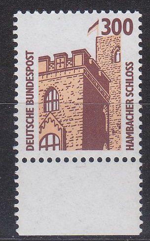 GERMANY BUND [1988] MiNr 1348 ( **/mnh ) [01] Bauwerke Bogenrand
