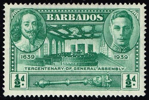 Barbados #202 Tercent. Of General Assembly; Unused (4Stars)  BAR0202-02XVA